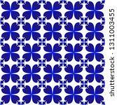 tile pattern  porcelain indigo... | Shutterstock .eps vector #1311003455