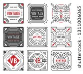 set of nine stylish line... | Shutterstock .eps vector #1311006065