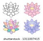 lotus flower. isolated vector...   Shutterstock .eps vector #1311007415