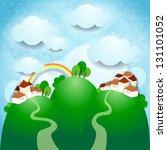 fantasy illustration with... | Shutterstock .eps vector #131101052