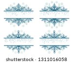set of simple blue label... | Shutterstock .eps vector #1311016058