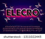 modern electronic typeface with ... | Shutterstock .eps vector #1311022445