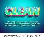 vector of modern clean 3d... | Shutterstock .eps vector #1311022475