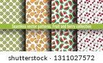 seamless pattern set. juicy...   Shutterstock .eps vector #1311027572
