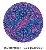 a modern version of a mandala  ... | Shutterstock . vector #1311039092