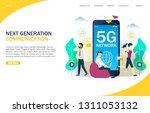 next generation of mobile... | Shutterstock .eps vector #1311053132