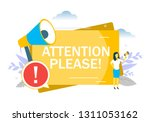 attention please announcement ... | Shutterstock .eps vector #1311053162