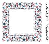 square holiday christmas...   Shutterstock .eps vector #1311057545