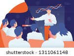 male teacher is giving a... | Shutterstock .eps vector #1311061148