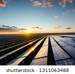 the solar panels on the lawn | Shutterstock . vector #1311063488