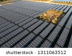 the solar panels on the lawn | Shutterstock . vector #1311063512