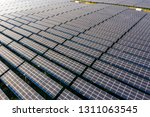 the solar panels on the lawn | Shutterstock . vector #1311063545