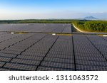 the solar panels on the lawn | Shutterstock . vector #1311063572