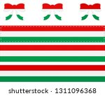 hungarian flag on ribbon and bow | Shutterstock .eps vector #1311096368
