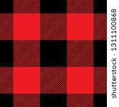 buffalo plaid pattern in red  ... | Shutterstock .eps vector #1311100868