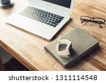 smart watch on the table with... | Shutterstock . vector #1311114548