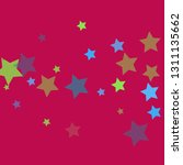 colorful stars on pinky... | Shutterstock .eps vector #1311135662