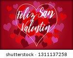 happy valentin's day lettering... | Shutterstock . vector #1311137258
