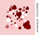 happy valentines day  sweet... | Shutterstock .eps vector #1311145082