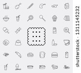 biscuit icon. fast food icons... | Shutterstock . vector #1311145232