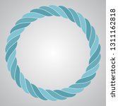 vector rope abstract circle.... | Shutterstock .eps vector #1311162818