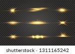 white glowing light explodes on ... | Shutterstock .eps vector #1311165242