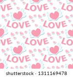 love seamless pattern....   Shutterstock .eps vector #1311169478