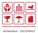 flat anonymous package handling ... | Shutterstock .eps vector #1311193415