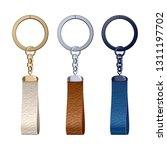 Leather Key Rings Set. Key...