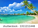 beach wallpaper hd | Shutterstock . vector #1311211448