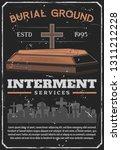 interment service  funeral... | Shutterstock .eps vector #1311212228
