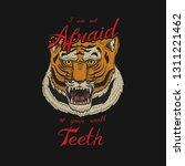 asian tiger logo. face or head...   Shutterstock .eps vector #1311221462