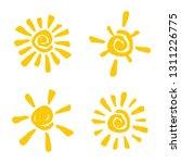 set abstract and fun sun vector ...   Shutterstock .eps vector #1311226775