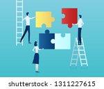 teamwork concept. vector of... | Shutterstock .eps vector #1311227615