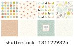 cute seamless patterns and... | Shutterstock .eps vector #1311229325