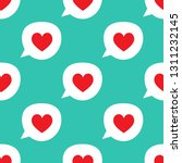 repetitive speech bubbles with... | Shutterstock .eps vector #1311232145