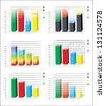 business charts | Shutterstock . vector #131124578