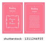 vintage template design of... | Shutterstock .eps vector #1311246935