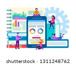 the optimization and... | Shutterstock .eps vector #1311248762