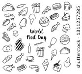 world food day drawing sketch... | Shutterstock .eps vector #1311257285