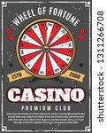 wheel of fortune and casino... | Shutterstock .eps vector #1311266708