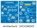 car repair or automotive... | Shutterstock .eps vector #1311268265