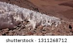 ice from the top of licancabur | Shutterstock . vector #1311268712