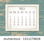 march year 2019 vector monthly... | Shutterstock .eps vector #1311278828