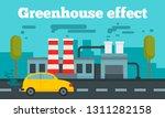 greenhouse effect concept... | Shutterstock .eps vector #1311282158