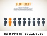 be different   being different  ... | Shutterstock .eps vector #1311296018
