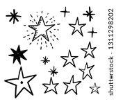 hand drawn star doodles. | Shutterstock .eps vector #1311298202