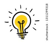 light bulb doodle  hand drawn... | Shutterstock .eps vector #1311299318