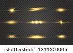 white glowing light explodes on ... | Shutterstock .eps vector #1311300005