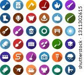 color back flat icon set  ... | Shutterstock .eps vector #1311302615